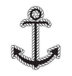 nautical anchor logo icon maritime sea ocean boat vector image