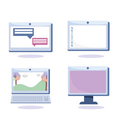online education computer laptop and tablet vector image