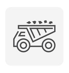 Ore truck icon vector