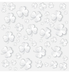 Paper Clover leaves pattern background for vector