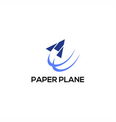paper plane logo vector image