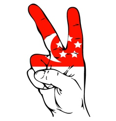 Peace Sign of the Singapore flag vector