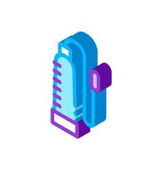 Penis pump isometric icon vector