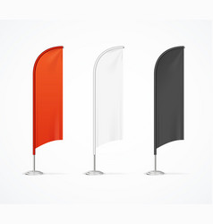 realistic detailed 3d color blank expo stand flag vector image