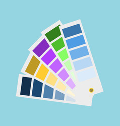 rectangular lists with palette shades vector image