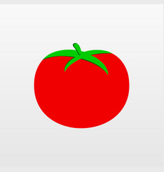 Red tomato icon isolated on background modern fla vector