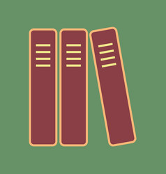 Row of binders office folders icon vector