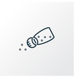 salt icon line symbol premium quality isolated vector image