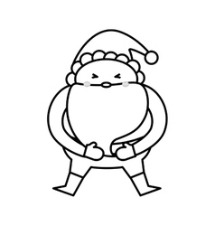Santa claus xmas cartoon vector image