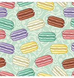 Seamless cute macaroon pattern vector image