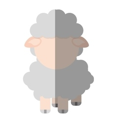sheep animal farm isolated icon vector image