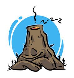 Sleeping volcano vector