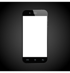 Smartphone black isolated vector image