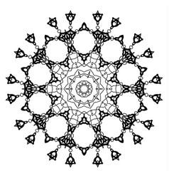 snowflake mandala vintage decorative elements vector image