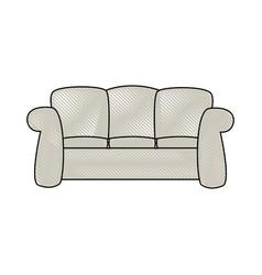 Sofa furniture comfort interior decor vector