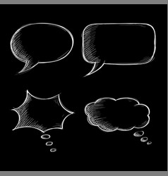 speech bubbles chat symbols on black background vector image