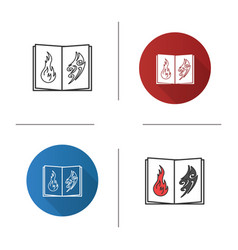 Tattoo images catalog icon vector