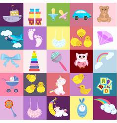 toy cartoon kids baby child game childrens feet vector image
