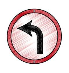 Turn left arrow traffic signal icon vector