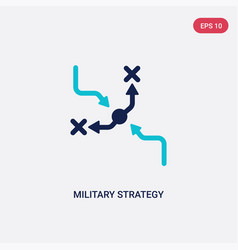 two color military strategy graphic icon from vector image