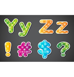 two consonant and symbols vector image