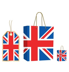 uk bag and tag vector image