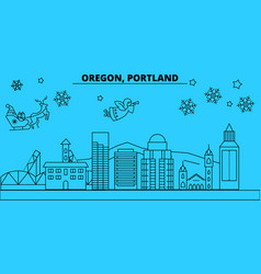 United states portland oregon winter holidays vector