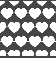 valentines day grey and white background seamless vector image