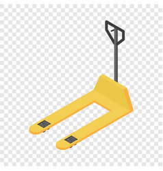 Warehouse forklift icon isometric style vector