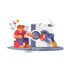Washing machine repair vector