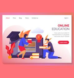 website banner for online school study courses vector image