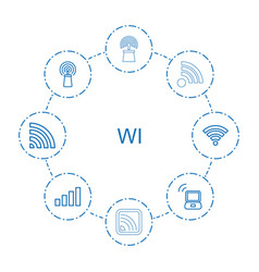 wi icons vector image
