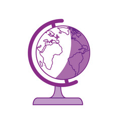 World globe isolated vector