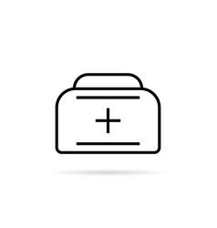 black thin line medical case vector image