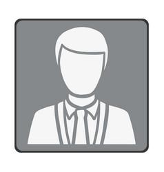 Emblem man customer icon vector
