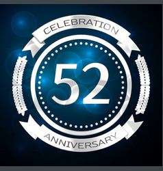 fifty two years anniversary celebration with vector image