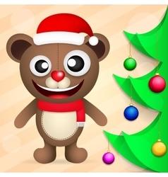 Fun brown bear vector image vector image