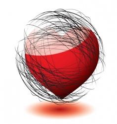 scribble love vector image vector image