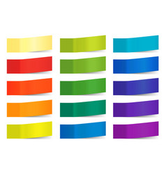 sticky notes isolated on white colored vector image