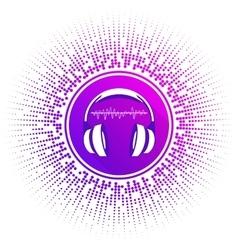 stylized headphones vector image