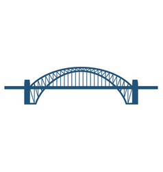 sydney harbour bridge flat blue icon isolated on vector image
