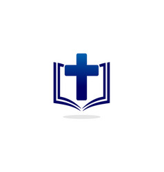 book christian logo vector image