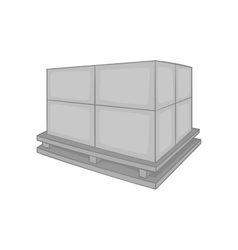 Cargo icon black monochrome style vector image vector image