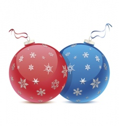 Christmas balls icon vector image vector image