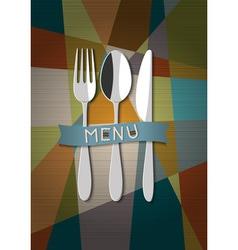 Restaurant card menu design vector