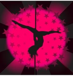 Sexy pole dancer - vector image