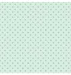 Tile mint green polka dots pattern or background vector image