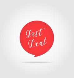 best deal label handdrawn lettering red color vector image vector image