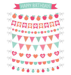 Birthday party decoration set vector image