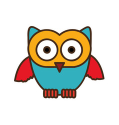 color stylized owl icon vector image